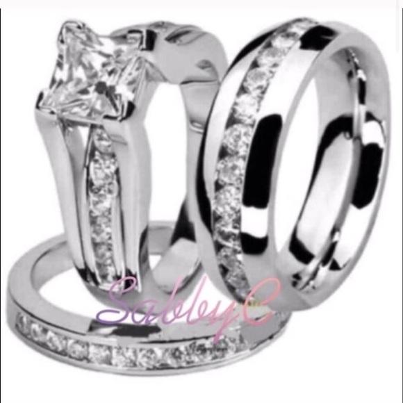 Jewelry New 18 K White Gold Mens Wedding Ring Womens Poshmark